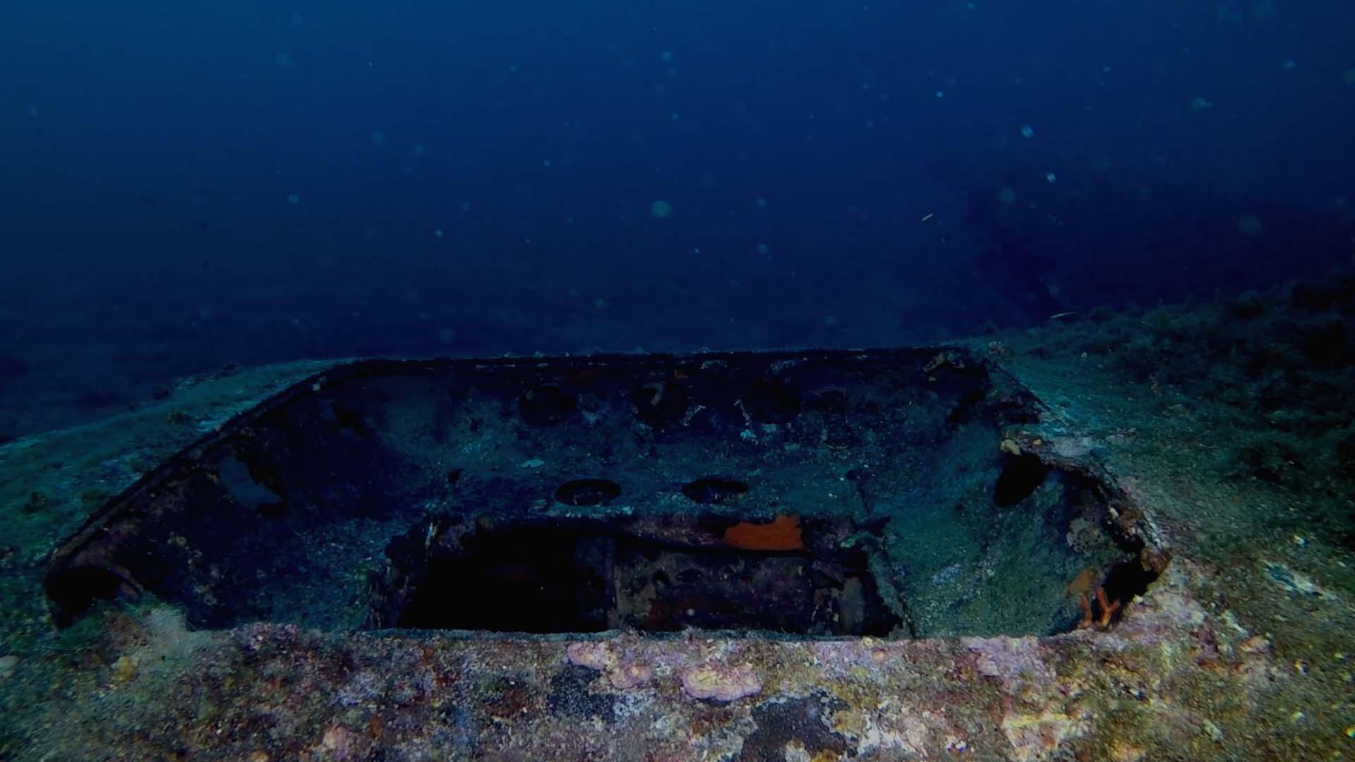 Junker 88 di Santa Caterina boccaporto del battello di salvataggio