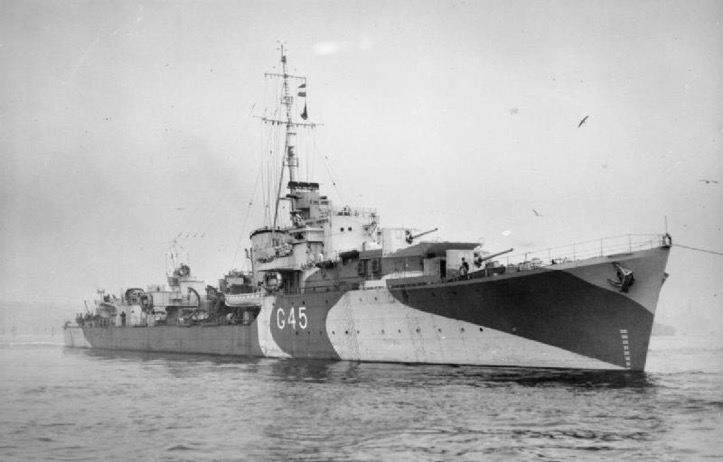 Il Destroyer inglese G45 - HMS Quail