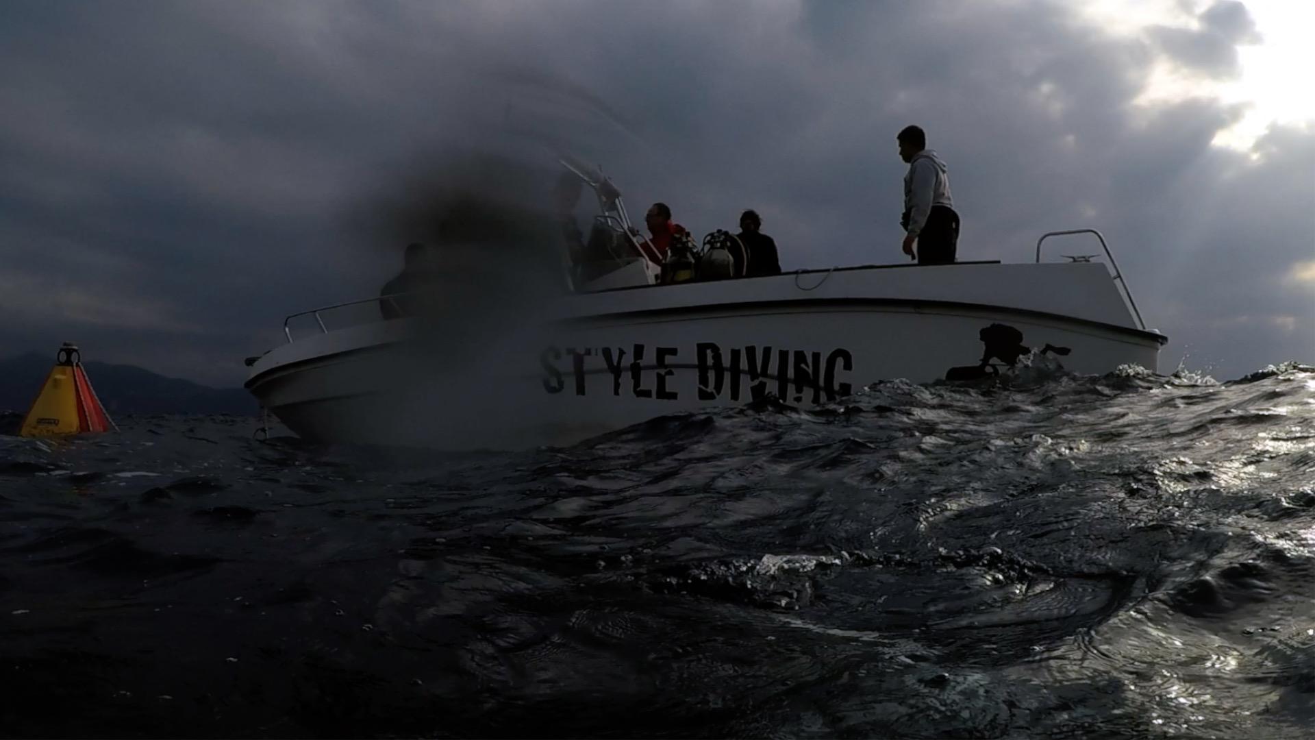 La barca di Style Diving