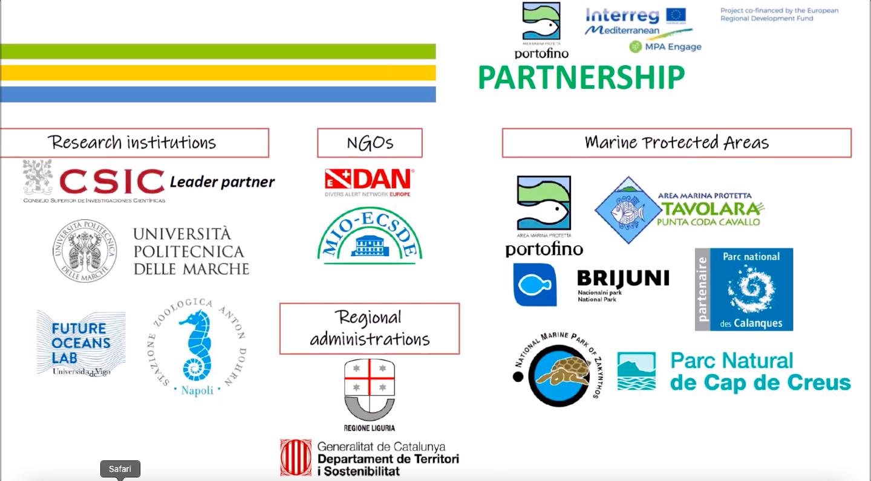 MPA-Engage: gli effetti dei cambiamenti climatici. I partner.