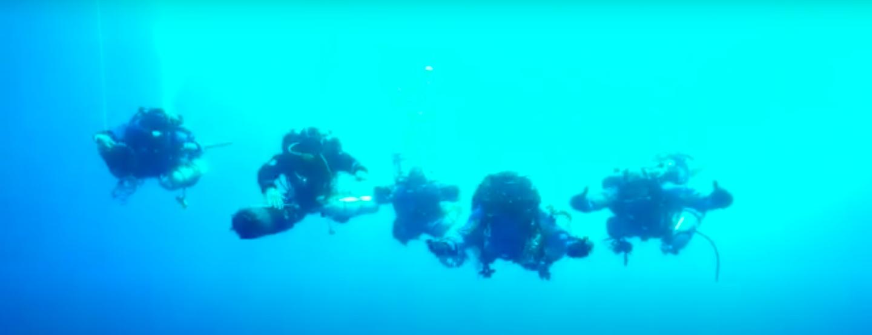 La rete fantasma di Isola delle Femmine: il team in acqua