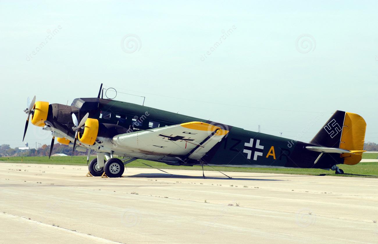 Lo Junkers-52 di Isola delle Femmine